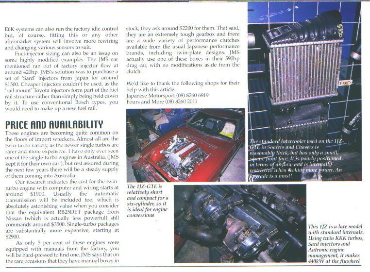 Toyota Supra MKIV : Magazine Articles