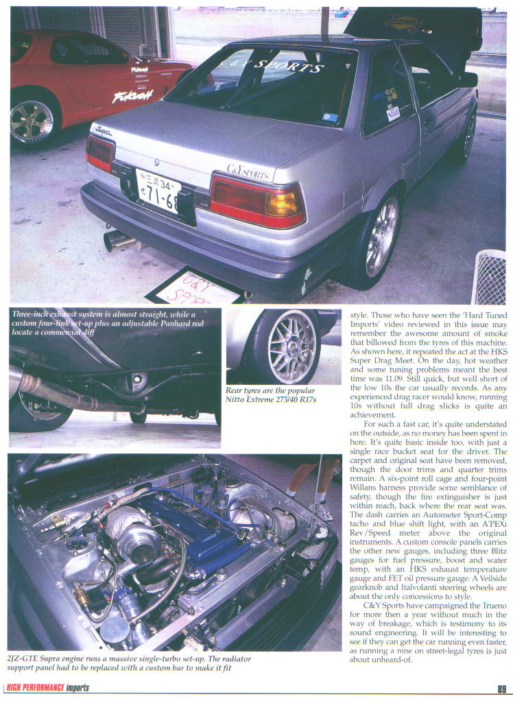 Anyone done a 1JZ-GTE into AE86?