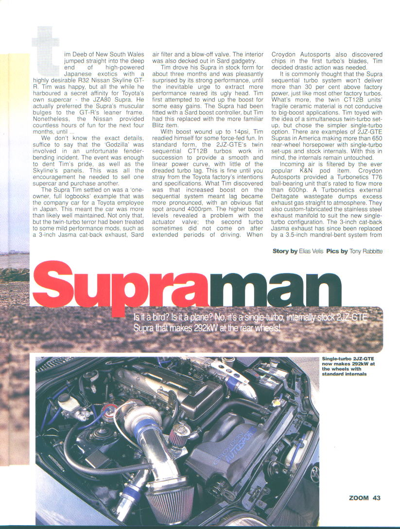 Toyota Supra Mkiv Magazine Articles