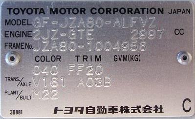 Toyota Supra MKIV : MKIV Specifications